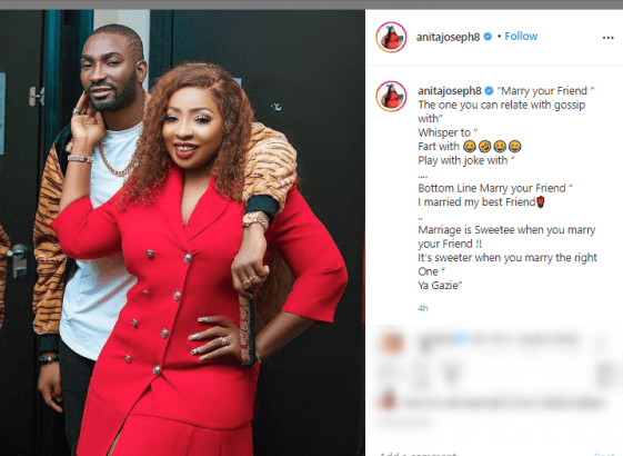 Actress Anita Joseph!! Marry Your Friend The One You Can Gossip With