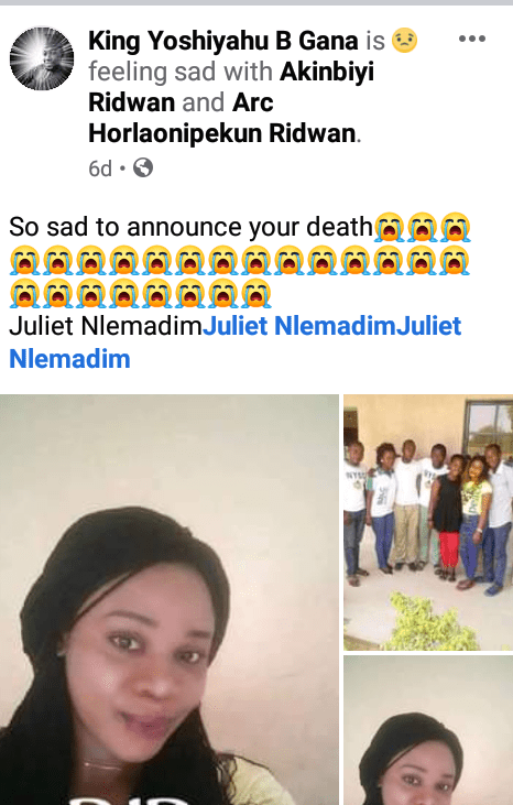 Nigerian Lady Dies Days To Her Wedding