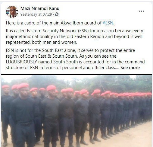 Nnamdi Kanu launches Another Eastern Security Network in Akwa Ibom (video)