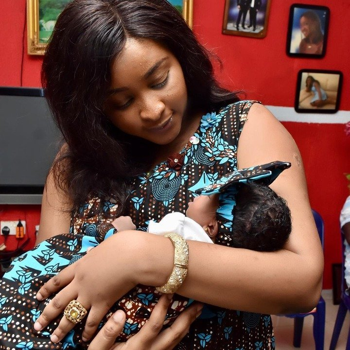 Nollywood actress Etinosa Idemudia Share Photos From Daughter's Naming Ceremony