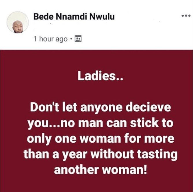 Nigerian Man reveals No