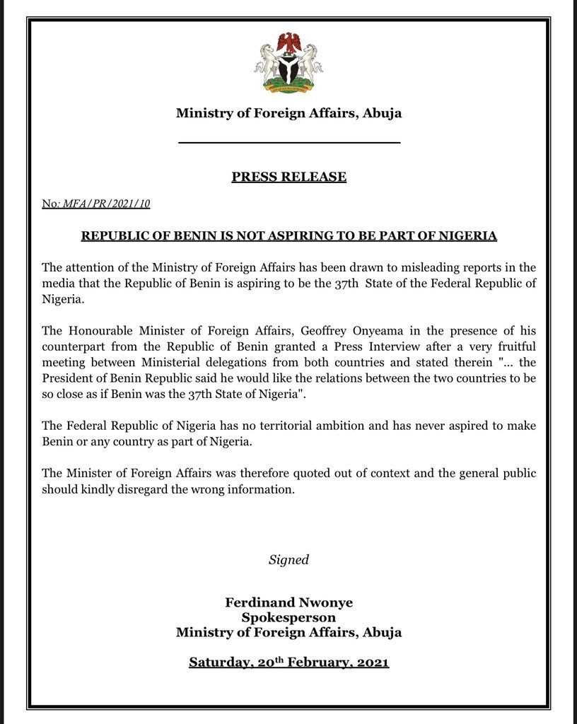 Benin Republic Is Not Aspiring
